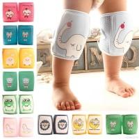 Mybaby Deker Pelindung Lutut / Sikut Motif Kartun Hewan untuk Bayi