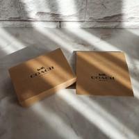 box kotak dompet kecil coach coklat asli ori murah ready