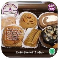 Keto Paket 1 Mix Donat Roll Cake & Lapis Legit