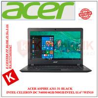 Laptop ACER Aspire A311-31-C64M BLACK N4000-4GB-500GB-11.6-WIN10