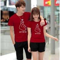 Baju Couple Kaos Couple Oblong Pasangan Soulmate Just For You 11212