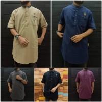 al amwa Kurta Sanghai Lengan pendek bahan cotton garment