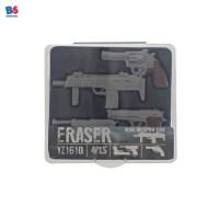 GUN ERASER MINI WEAPON BOX 4PCS | PENGHAPUS PISTOL MINI ISI 4 | 1445