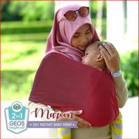 Geos Gendongan Kaos Bayiku.id 2in1 Instant Baby Wrap - L ⠀⠀⠀⠀