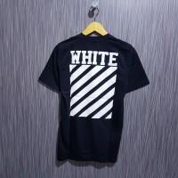 Kaos/Baju/Tshirt Off white diagonal premium hitam