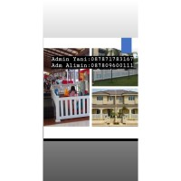 Pagar UPVC untuk dekorasi rumah, taman, cafe TYPE RELINGGA