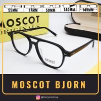 kacamata frame MOSCOT BJORN ( BLACK ) kacamata Vintage Jadul Big Size - Twotone