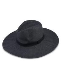 Original Topi Import Rubi Sabrina Straw Panama Hat Black