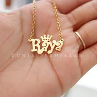 Kalung Nama Gold 24K Custom/Perhiasan Nama Gold 24K