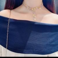 kalung unik blink blink / rhinestone choker statement necklace