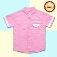 Kemeja Koko Anak Lengan Pendek PINK / Merah Muda 1 - 8 Tahun