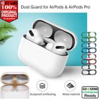 Dust Guard AirPods Pro / AirPods Case Anti Debu Metal Sticker - AirPods 1 2, Silver