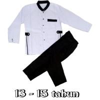 setelan jasko remaja hitam putih busana muslim anak laki-laki