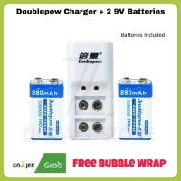 Doublepow Charger + 2 9V Batteries