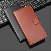 Flip Cover Vivo Y19 Leather Case Dompet Kulit y 19