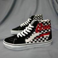 Vans Sk8 Hi Checkerboard David Bowie Black White Premium BNIB