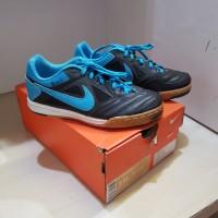 Sepatu Futsal Anak Nike JR Gato Black/Blue Original
