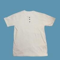 Kaos Henley Lengan Pendek Kaos Polos Pria Wanita Unisex All Size