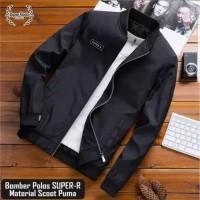 Jaket Bomber Pria Polos Bahan Waterproof Anti Air Jaket Murah Terbaru