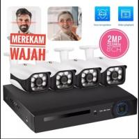 KERUI Paket CCTV POE NVR 8 Channel 4 kamera Mendeteksi Wajah 2MP