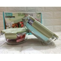 Glass food set/kotak makan kaca/food container tahan panas