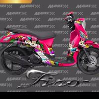 sticker decal yamaha mio fino micky mouse