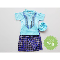 Sarung Instan Koko Free Peci Baju Anak Bayi Muslim Besar 1-2 Tahun