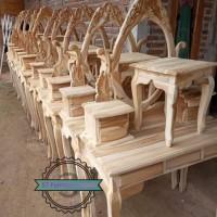 Meja rias klasik/ tolet kartini kayu jati mentahan
