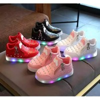 M JEWELS Sepatu Anak Led Import Sneakers Boots Anak Perempuan Lampu
