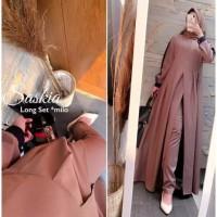 Saskia Long Set 2in1 | Baju Setelan Wanita Muslim | Gamis | Dress