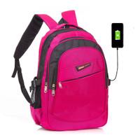 FREEKNIGHT Tas Ransel Pria Wanita USB Backpack Laptop Punggung TR103