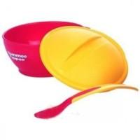 Termurah ! Tommee Tippee Big Weaning Bowl With Heat Sensing Spoon