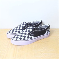 Sepatu Vans Slip On Checker Board HItam Premium Quality