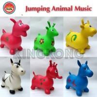 JUMPING ANIMAL MUSIC MAINAN TUNGGANG/ KUDA - KUDAAN KARET