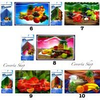Placemats dan Coasters - Tatakan Piring dan Tatakan Gelas Motif 3D
