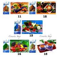 Tatakan Gelas dan Tatakan Piring Motif 3D - Placemats dan Coasters