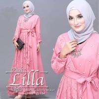 🌺 Lilla Dress | Baju Gaun Muslim | Gamis Brukat Termurah