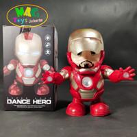Mainan Robot Hero Iron Man Dance Avangers Musik Lampu