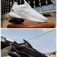 sepatu sport adidas alphabounce beyond black white - sneakers unise