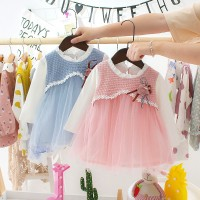 Mybaby Dress Casual Lengan Panjang Motif Bunga 3D untuk Perempuan /