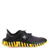 Sepatu Lari Pria LEAGUE Original Kumo Racer Cros Bar Black Yellow l