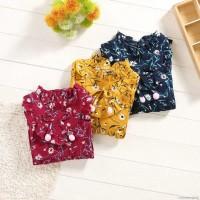 Mybaby Dress Lengan Panjang Motif Bunga untuk Perempuan