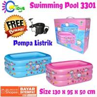 FREE POMPA Kolam Renang Mikoko 3301 Swimming Pool 130X95X50cm grab