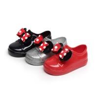 Sepatu Boots Hujan Anti Air Motif Polkadot Aksen Pita untuk Bayi /
