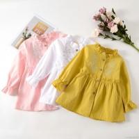 Dress Katun Bayi Perempuan Lengan Panjang Motif Print Bunga untuk