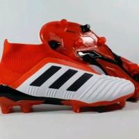 Sepatu Bola Adidas Predator 18.1 White Red FG tools