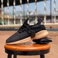sepatu running pria adidas alphabounce instinct black gum - sneaker