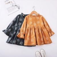 Mybaby Dress Casual Bayi Perempuan Lengan Panjang Motif Print Bunga