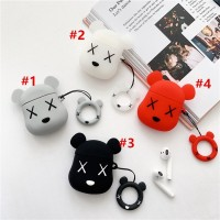 Cartoon Doll Bear Airpods Protection Cover Apple Bluetooth Headset