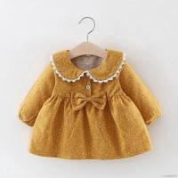 Mybaby Dress Princess Lengan Panjang Motif Print Bunga untuk Bayi